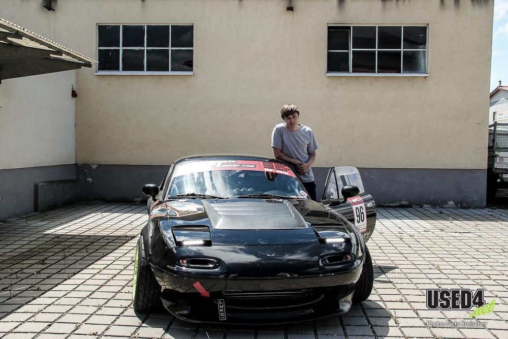 Dennis Köhler und sein Drift-MX5: Hauptsache, die Haare fliegen